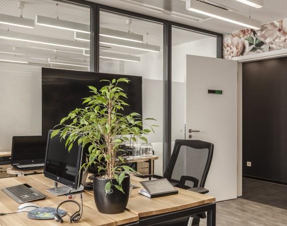 Büro und Meeting